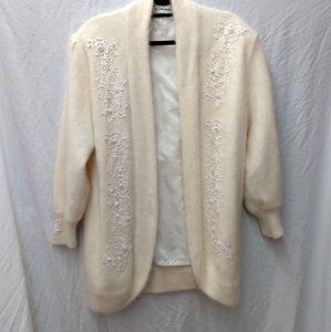 Mirano Vintage 80's Angora Cardigan Sweater Duster